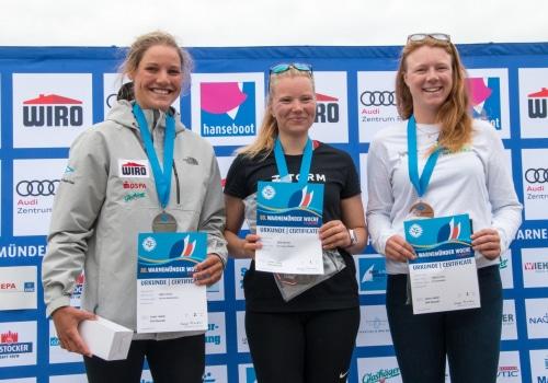 Die Dänin Anne-Marie Rindom gewann bei den Laser Radial die Gesamtwertung vor Hannah Anderssohn und deren Trainingskameradin Pia Kuhlmann