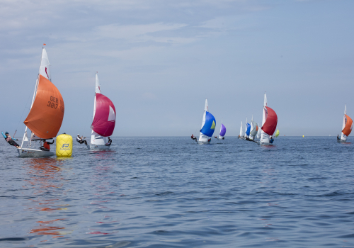 Die Flotte der Korsaren an der Raumschotstonne. Foto Pepe Hartmann