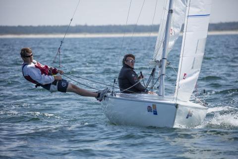 Andreas ROMANOWSKY und Marlon ZILCH führen bei den Dyas mit zwei Siegen. Foto Pepe-Hartmann
