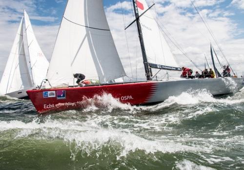 """Mitfavorit auf den Sieg bei der Regatta hanseboot Rund Bornholm ist der Volvo Ocean Racer VO 60 """"OSPA"""""""