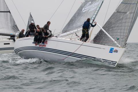 """Thomas Jungbluth gewann mit seiner Crew auf der X-41 """"Dockenhuden"""" den Internationalen Deutschen Meistertitel im Seesegeln in der ORC 1/2 Klasse"""