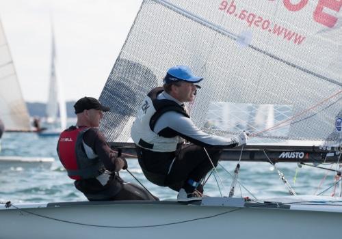 Wurden Dritte bei der Europameisterschaft der 505er: Lutz Stengel und Frank Feller aus Rostock