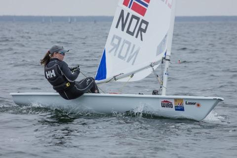 Siegerin bei den Laser Radial Women wurde Caroline ROSMO aus Norwegen. Foto Pepe Hartmann